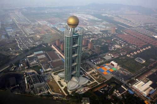 В китайской деревне построили небоскреб
